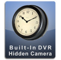 Built-In DVR Wall Clock Hidden Camera Spoy Camera Nanny Cam Black Frame